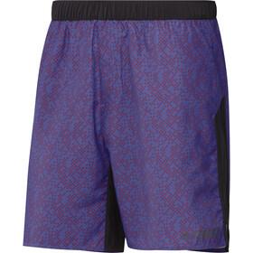 adidas TERREX Primeblue Trail grafiske shorts Herrer, violet